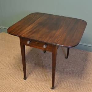Fine Quality Regency Mahogany Antique Small Drop Leaf Table