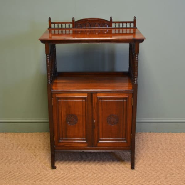 Striking Victorian Arts & Crafts Rosewood Antique Cabinet
