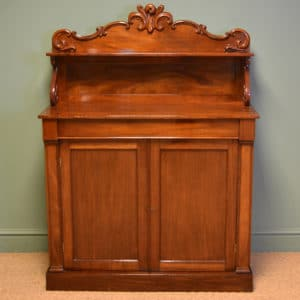 Fine Quality Victorian Figured mahogany Antique Chiffonier
