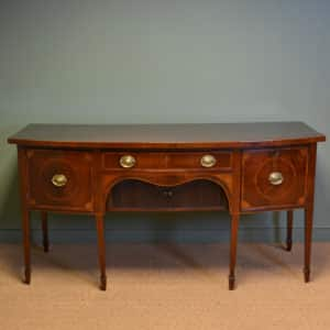 Striking Large Figured Plum Pudding Mahogany George III Antique Sideboard