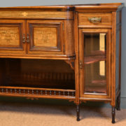 Spectacular Exhibition Quality Inlaid Rosewood Antique Victorian Display Cabinet