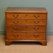Georgian Mahogany Small Antique Chest Of Drawers by Edwards & Roberts