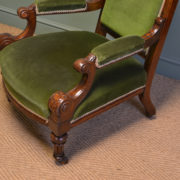 High Quality Pair of Victorian Oak Antique Library / Arm Chairs