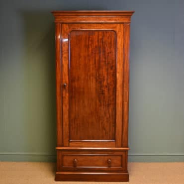 Stunning Victorian Figured Mahogany Antique Single Wardrobe