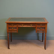 Quality Victorian Walnut Antique Writing Desk by JAS Shoolbred