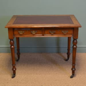 High Quality JAS Shoolbred & Co Victorian Walnut Antique Writing Table