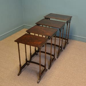 Elegant Walnut Edwardian Antique Nest of Tables