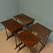 Elegant Walnut Edwardian Antique Nest of Tables