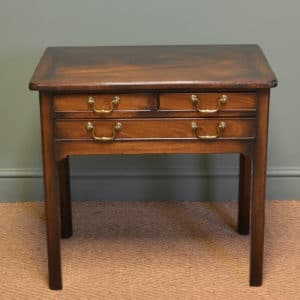 Eighteenth Century Mahogany Antique Low Boy / Side Table