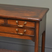 Eighteenth Century Mahogany Antique Low Boy / Side Table