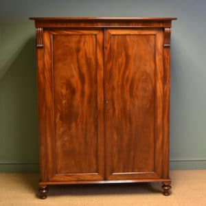Spectacular Regency Mahogany Antique Linen Press
