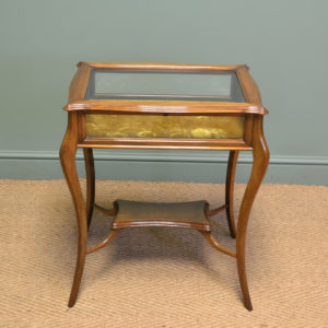 Fine Quality Walnut Victorian Antique Bijouterie Table