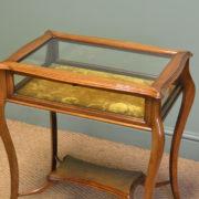 Fine Quality Walnut Victorian Antique Bijouterie Table