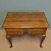Georgian Oak Cross Banded Antique Low Boy / Side Table