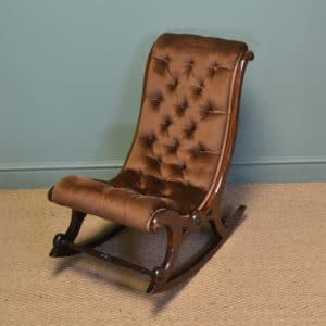 Victorian Mahogany Antique Side / Rocking Chair