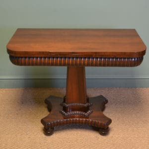 Striking William IV Rosewood Antique Tea Table