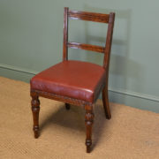 Quality Set of Four Victorian Oak Antique Dining Chairs