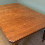 Quality Victorian Walnut Antique Dining Table by JAS Shoolbred