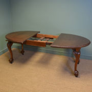 Quality Chippendale Design Edwardian Antique Walnut Extending Dining Table