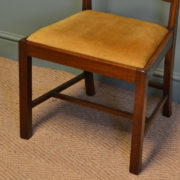 Quality Set of Six Chippendale Design Walnut Antique Dining Chairs by JAS Shoolbred