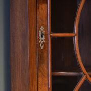 Unusual Edwardian Figured Walnut Antique Floor Standing Corner Cupboard
