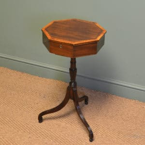 Elegant Edwardian Mahogany Antique Occasional Table / Workbox
