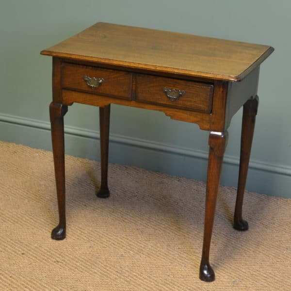 Georgian Oak Antique Low Boy / Side Table