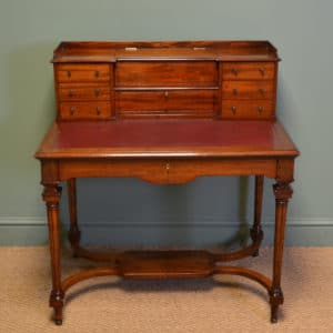 Striking Quality Victorian Mahogany Bonheur Du Jour Writing Desk