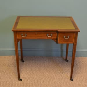 Elegant Maple & Co Quality Edwardian Mahogany Inlaid Antique Writing Table
