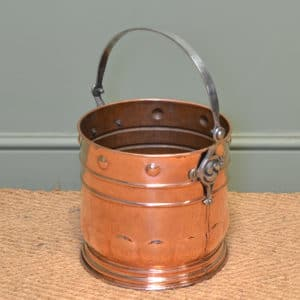 Unusual Arts & Crafts Copper Antique Coal Bucket