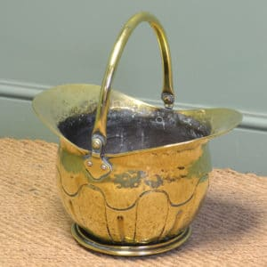 Decorative Victorian Brass Antique Coal Bucket