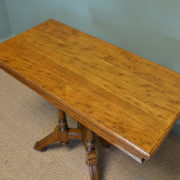 Spectacular Golden Oak Arts & Crafts Antique Card Table