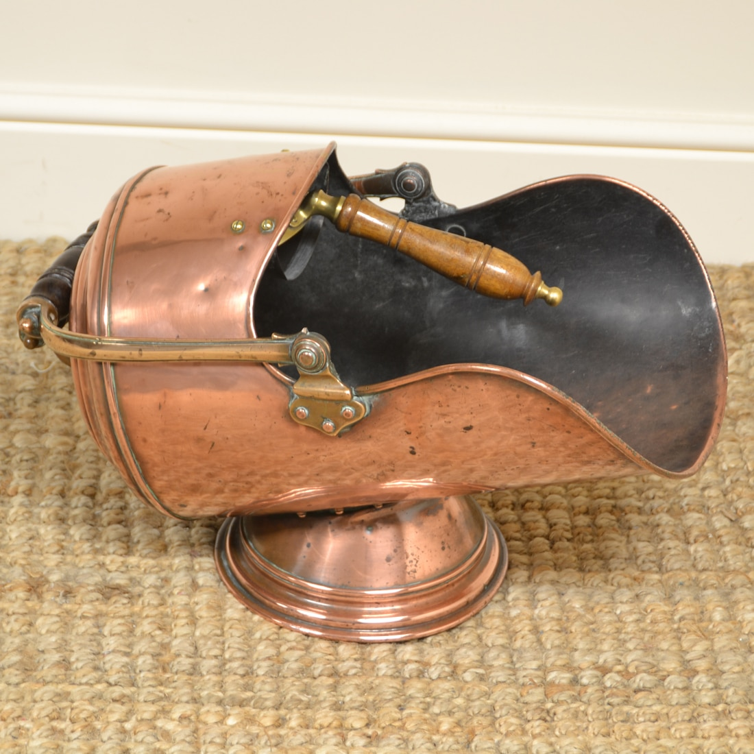 antique coal scuttle
