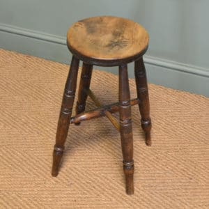 Beautifully Figured Country House Antique Victorian Fruitwood Stool