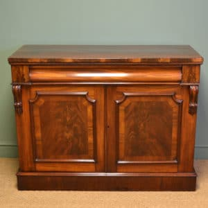 Beautifully Figured Victorian Mahogany Antique Cupboard