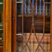 Spectacular Figured Mahogany Inlaid Edwardian Antique Display Cabinet