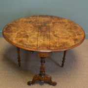 Striking Quality Figured Large Walnut Antique Sutherland Table