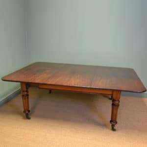 Quality Country House Extending Cuban Mahogany Regency Antique Dining Table