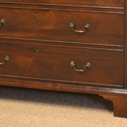 Quality Country House George III Antique Mahogany Chest Of Drawers