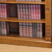 Quality Arts & Crafts Victorian Oak Large Open Bookcase