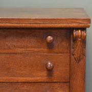 Victorian Oak Antique Wellington Chest