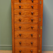Spectacular Heal & Son Large Victorian Mahogany Antique Wellington Chest