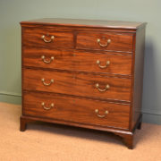 Country House Georgian Mahogany Antique Chest Of Drawers