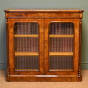 Spectacular Lambs of Manchester Figured Burr Walnut Antique Victorian Cabinet