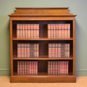 Quality Victorian Antique Oak Open Bookcase