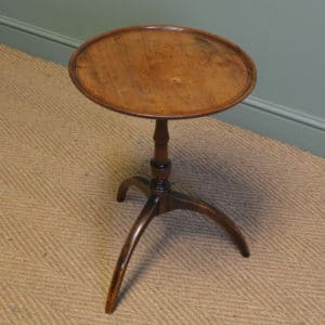 Country House Small Regency Mahogany Antique Tripod Occasional Table