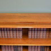 Quality Victorian Walnut Antique Open Bookcase
