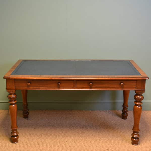 Spectacular Quality Victorian Large Antique Mahogany Writing Table / Desk