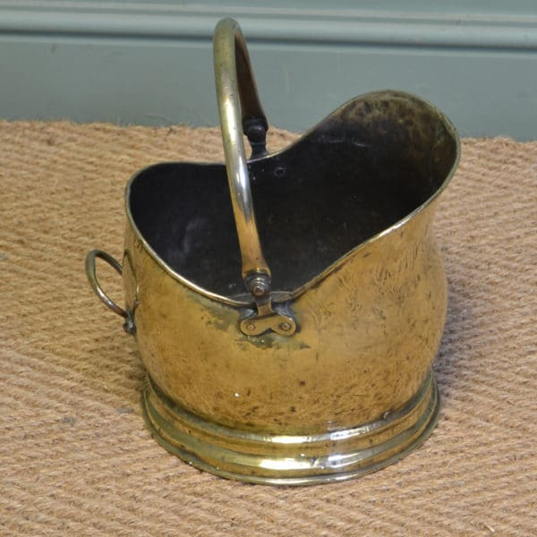 Small Victorian Brass Antique Coal Bucket