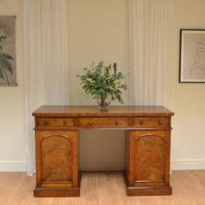 Country House Figured Mahogany Antique Victorian Pedestal Sideboard